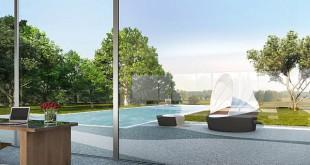 Mit einem fugenlosen Natursteinboden werden die Grenzen zwischen dem Innen- und Außenbereich der eigenen vier Wände zugunsten einer transparenten Optik aufgelöst. Foto: djd/www.ravello.de