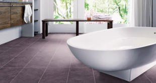 Widerstandsfähigkeit in tollem Gewand: Der neue Designbelag Xtreme trotzt nicht nur den hohen Ansprüchen auch in Feuchträumen wie dem Badezimmer, sondern verleiht dem Raum auch eine langlebige, außergewöhnliche Optik. (Foto: epr/LOGOCLIC)