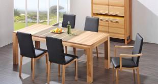 Der passende Platz für gemütliche Stunden: Praktisch sind Tische, deren Länge sich nach Bedarf verändern lässt. Foto: djd/TopaTeam