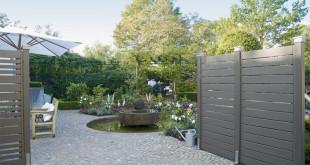 Wenn der Trendfarbton Grau auf Sichtblenden, Fassaden und Zäune aus Holz trifft, entsteht ein modernes und gleichzeitig natürliches Ambiente im Außenbereich. (Foto: Osmo)