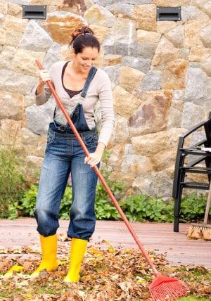 Laubrechen ist die klassische Gartenarbeit im Herbst. Dennoch sollte auch schon ans kommende Frühjahr gedacht werden – bereits jetzt können neue Blumenzwiebeln und junge Bäume gesetzt werden. Bild: tdx/homesolute.com/fotolia