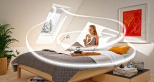 Wohngesundes Raumklima: Fensterlüfter holen konstant frische Luft in den Raum und können dabei den Großteil der Heizwärme zurückgewinnen. Foto: djd/VELUX