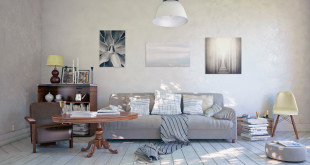 Weiß geölte Holzfußböden bringen Leichtigkeit und Licht in die eigenen vier Wände und lassen den Raum größer erscheinen. (Foto: Osmo/Fotolia/Christian Hillebrand)
