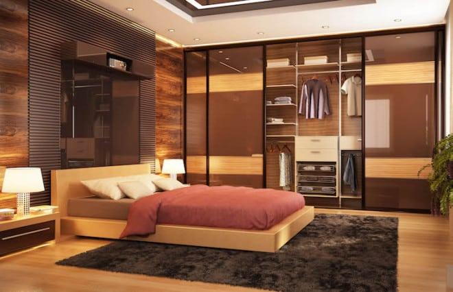 Für harmonische Atmosphäre im Schlafzimmer ist ein stimmiges Licht- und Farbkonzept unerlässlich. Warme Naturtöne zum Beispiel schaffen sofort Behaglichkeit. Bild: tdx/Fotolia