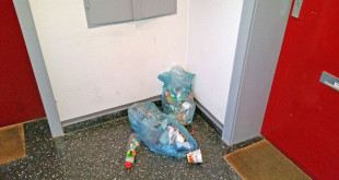 Müffelnde Mülltüten vor der Wohnungstür sind eine Belästigung für die Mitmieter. Foto: djd/Interessenverband Mieterschutz e.V.