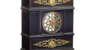 Dieser Etagenofen ist neu, wurde aber nach der historischen Vorlage eines Gründerzeit-Ofens gestaltet. Viele Vintage-Fans lieben den Ofen, der sowohl durch seine charmante Optik als auch durch seine moderne Verbrennungstechnik besticht. (Foto: epr/Traumöfen)