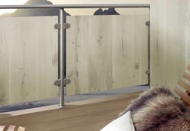 HPL-Baukompaktplatten Kronoplan / Kronoart: Die duroplastischen Hochdrucklaminate eignen sich optimal als Balkonverkleidung im Außenbereich und sind in vielen unterschiedlichen Farb- und Designausführungen erhältlich. Foto: Wilkes GmbH