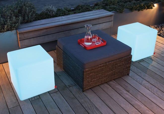 Der Würfel Cube sorgt für lässige Loungeatmosphäre und große Flexibilität. Bild: tdx/Moree
