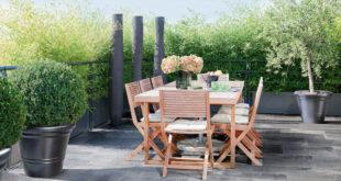 Da kann der Sommer kommen! Betonplatten von Marlux – hier die Infinito Naturo im Design Luvia – erzeugen ein Ambiente, in dem sich optimal entspannen lässt. (Foto: epr/Marlux)