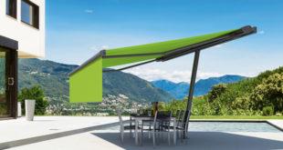 Wie ein schwebendes Dach wirkt diese besondere Mischung aus Sonnenschirm und Markise. (Foto: epr/markilux)