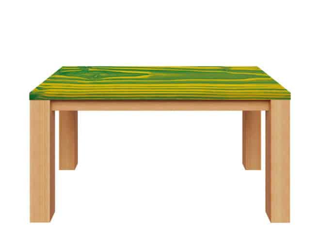 Ein Hingucker der besonderen Art sind individualisierte Möbelstücke. Mit Osmo Dekorwachs und der Duo-Ton-Technik werden Holzflächen in Szene gesetzt. (Foto: Osmo)