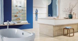 Großformatige Fliesen in hellen Farben lassen kleine Räume größer und weiter erscheinen. Sie eignen sich daher besonders zur Badgestaltung – wie diese designstarke Serie. (Foto: epr/cero-epr.de)