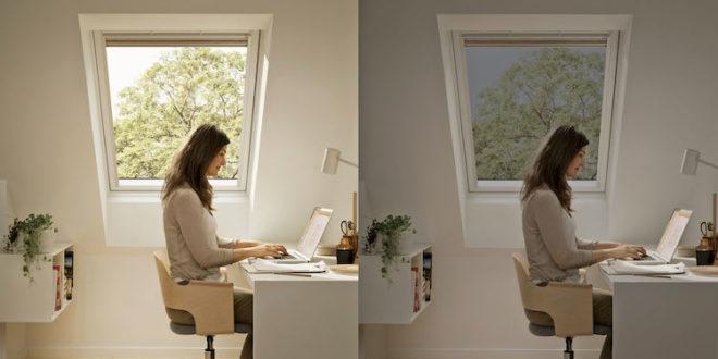 Mit elektrochrom verglasten Dachfenstern lässt sich der Sonnen- und Hitzeschutz optimal auf Tageszeit und Wetter abstimmen. Foto: djd/VELUX