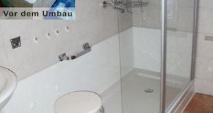 Eine alte, unsichere Badewanne verwandeln die Sanitärexperten von Tecnobad in nur acht Stunden in eine großzügige, seniorengerechte Dusche. (Foto: epr/Tecnobad)