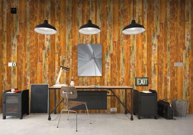 """Das Modell """"Marrakesch"""" knüpft an die Altholzoptik der bisherigen Designs an und vermittelt mit seiner rostroten Farbe eine exotische Wüstenatmosphäre. Quelle: Holzwerke Ladenburger"""