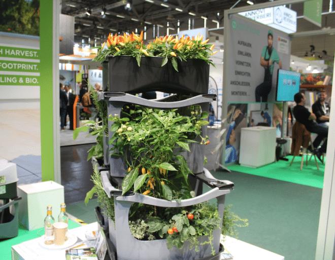 Auf der spoga & gafa wurden Pflanztürme für kleine Gärten und Balkone vorgestellt