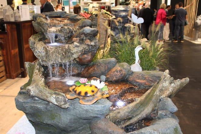 Wasserspiele für den Garten wurden ebenfalls auf der spoga & gafa vorgestellt.
