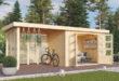 Ein gemütlicher Outdoor-Platz kann mit einem Gartenhaus entstehen.