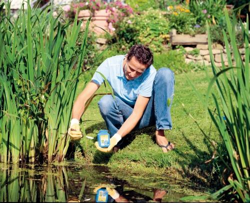 Mit FadenalgenFrei wird der Teich wieder klar und sauber. (Foto: epr/Neudorff)